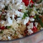 Couscous salade met feta en verse kruiden