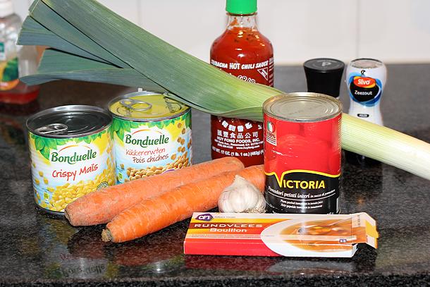 groentesoep, gevulde groentesoep, groentesoep met kikkerwten
