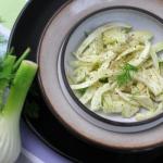 Venkelsalade, salade van venkel, fennel salad
