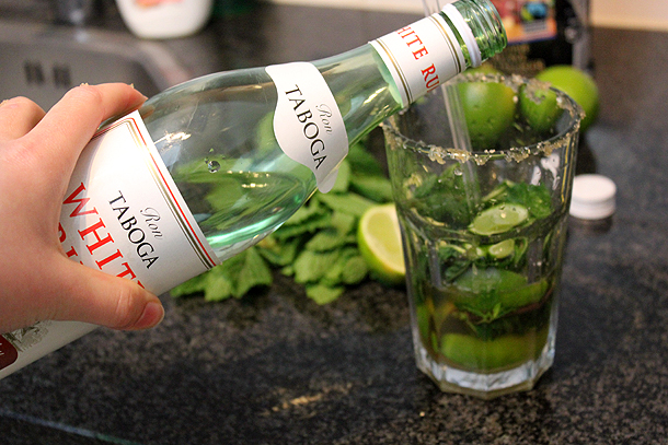 mojito cocktail bacardi munt recept