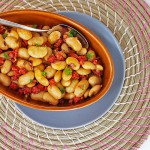 Salade van reuzenbonen met chorizo