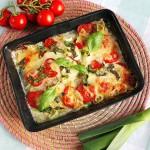 Pangafilet uit de oven met tomaat en mozzarella